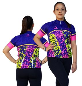 Camisa Ciclismo Feminina SD21 FL05 - Fluor