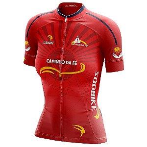 Camisa Ciclismo Caminho da Fé - Vermelha Feminina