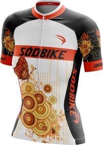 Camisa Ciclismo Butterfly Laranja