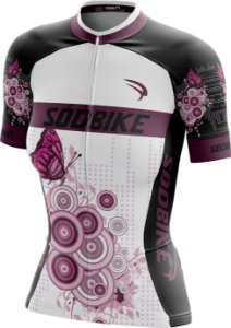 Camisa Ciclismo Butterfly Roxa
