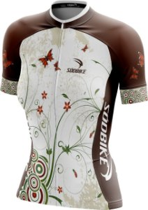 Camisa Ciclismo Butterfly Marrom
