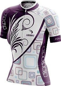 Camisa Ciclismo Square Roxa