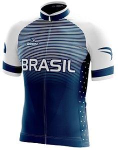 Camisa Ciclismo Brasil Olimpica Branca