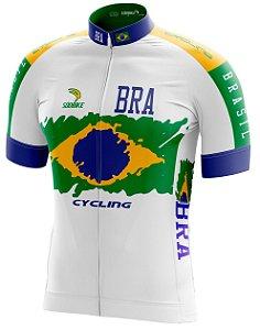 Camisa Ciclismo Brasil Branca