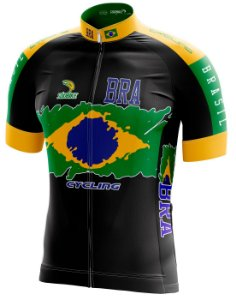 Camisa Ciclismo Brasil Preta