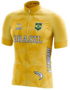 Camisa Ciclismo Brasil Copa Amarela