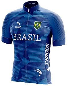 Camisa Ciclismo Brasil Copa Azul