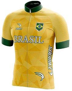 Camisa Ciclismo Brasil Copa Verde e Amarela