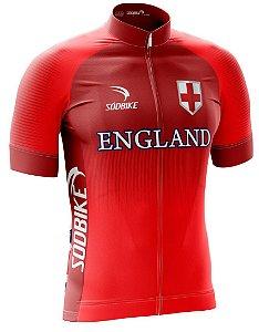 Camisa Ciclismo Inglaterra Vermelha