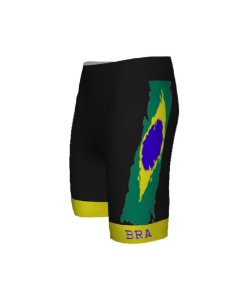 Bermuda Ciclismo Brasil Preto