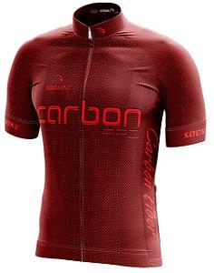 Camisa Ciclismo Carbon Vermelha