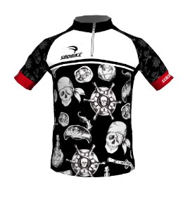 Camisa Ciclismo Infantil Pirata