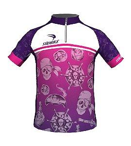 Camisa Ciclismo Infantil Pirata Girl