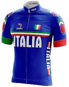 Camisa Ciclismo Italia Azul