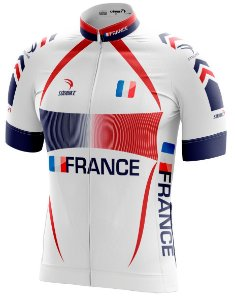 Camisa Ciclismo França Branca