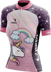 Camisa Ciclismo Feminina Unicórnio