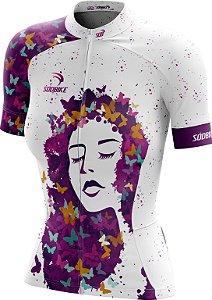 Camisa Ciclismo Feminina F018 Branca
