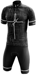 Conjunto Ciclismo Sódbike Fé Preto - Camisa e Bretelle