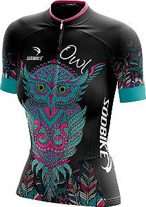 Camisa Ciclismo Coruja Preta - Ziper Full