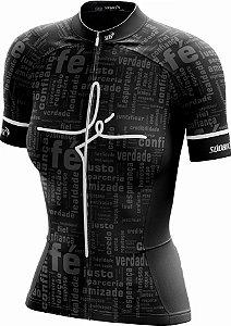 Camisa Ciclismo feminina Fé - ZiperFull