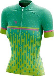 Camisa Ciclismo Feminina F014 ZiperFull