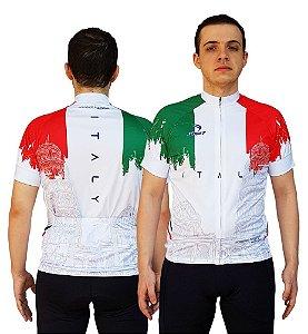 Camisa Ciclismo Sódbike Nações - Itália Branca