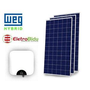 KIT 2,68 kWP GERAÇÃO FOVOLTAICA WEG-ENERGIA SOLAR