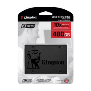 HD SSD Desktop Notebook Ultrabook Kingston A400, 480GB, 2.5'', Sata III 6 Gb/s - SA400S37