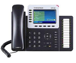 Telefone IP Grandstream GXP2160 6 Linhas SIP POE 24 Teclas Programáveis