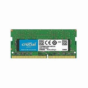 Memória DDR4 4GB 2400MHz Crucial p/ Notebook