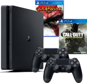 Console PS4 Slim 500GB Com 2 Controles + 2 Jogos