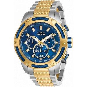 Relógio Invicta Speedway 26478 Masculino 48 MM Prata Com Dourado