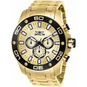 Relógio Invicta Pro Diver 26079 Masculino 50 MM Dourado