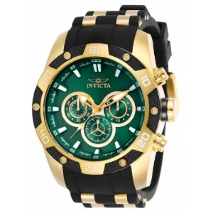Relógio Invicta Speedway 25837 Masculino 48 MM Dourado Com Verde