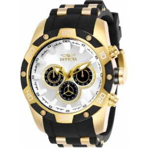 Relógio Invicta Speedway 25834 Masculino 48 MM Dourado Com Branco