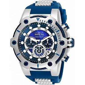 Relógio Invicta Bolt 25465 Masculino 51,5 MM Prata Com Azul
