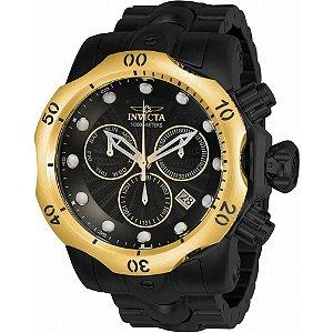 Relógio Invicta Venom 23895 Masculino 54 MM Dourado Com Preto
