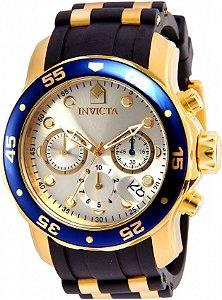 Relógio Invicta Pro Diver 17880 Masculino 48 MM Dourado