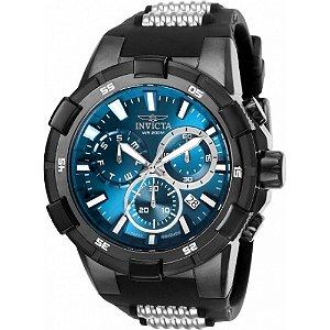 Relógio Invicta Aviator 25861 Masculino 51,5 MM Preto Com Prata