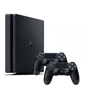 Console Playstation 4 1TB Modelo 2215B Slim Com 2 Controles