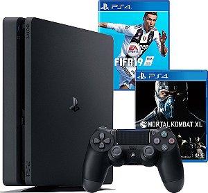 Console Playstation 4 1TB Modelo 2215B Slim + 2 Jogos
