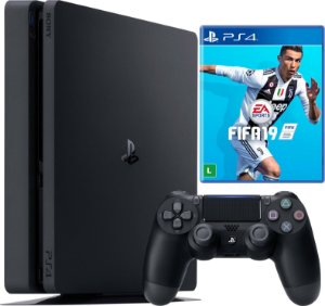 Console Sony PlayStation 4 - 500 GB Preto 2215A Slim + Fifa 19