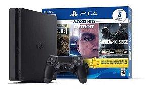 Console PlayStation 4 Slim 1TB + 3 Jogos