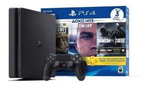 Console PlayStation 4 Slim 1TB + 3 Jogos Com 2 Controles