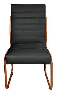 2 Cadeira Para Sala de Jantar jade em Courino Preto