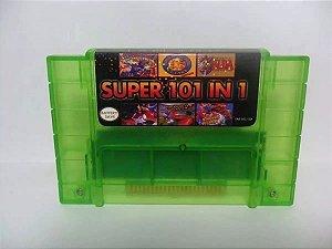 Cartucho Super Nintendo Super 101 Jogos em 1 com Bateria para Salvar! RPGs