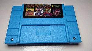 Cartucho Super Nintendo Super 49 Jogos em 1 com Bateria! Donkey Kong Super Metroid Zelda Mario e mais