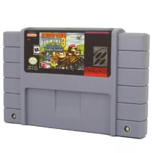 Donkey Kong Country 3 Dixie Kong's Double Trouble! Cartucho Super Nintendo com Bateria
