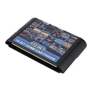 Cartucho Mega Drive 112 jogos em 1 Multi Games