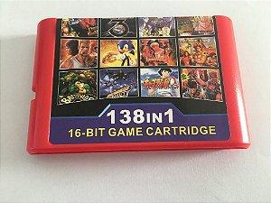 Cartucho Mega Drive 138 jogos em 1 Multi Games